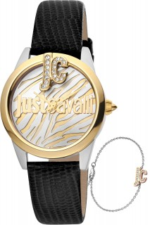 Just Cavalli Ladies Watch Logo JC1L099L0045 -Black