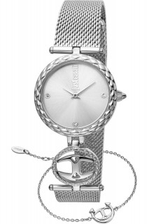 Just Cavalli Ladies Watch Logo JC1L103M0055 - Silver