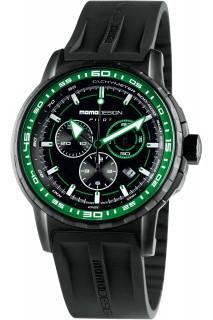 MOMO Design Pilot watch - GNT CHR PU BLK MD2164BK-31