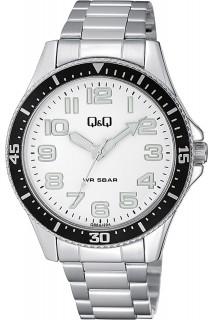 Q&Q Fashion watch - GNT 3H SS WHT-QB64J204Y