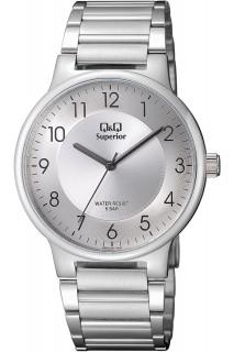 Q&Q Superior watch - GNT 3H SS WHT- S282J204Y
