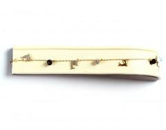 Swarovski Crystal 18K Gold Bracelet