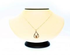 Drop & Flower 18K Gold Necklace