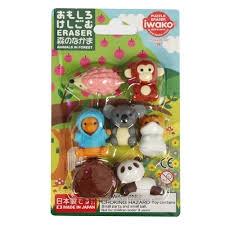Iwako Forest Animal Eraser