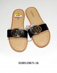 Gift Island Fashion Ladies Flat Black 38