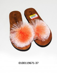 Gift Island Ladies Slipper Orange 34