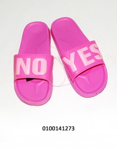 Gift Island Yes/No Ladies Slipers Pink 37