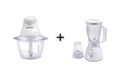 SHARP Kitchen Mate Combo: Chopper + Blender
