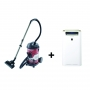 Clean-Home Combo: Sharp PCI-Air Purifier with Vacuum Cleaner. KC-G60SA-W + EC-CA2121-Z