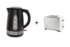 SHARP Breakfast Combo: 1.5L Kettle + 2 slice toaster