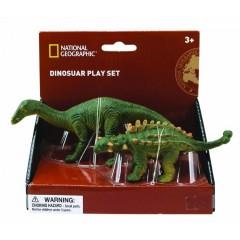 Natgeo Herbivore Dinosaurs Ankylosaurus Figurines 2 Pieces