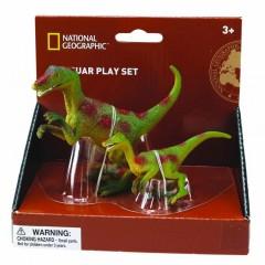 Natgeo  Raptor Dinosaur Figurines, 2 Pieces