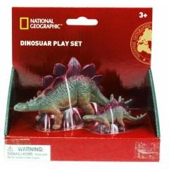 Natgeo  Stegosaurus Dinosaur Figurines 2 Pieces