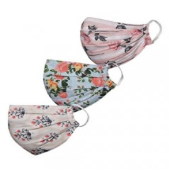 Women's 2 -Ply Printed Reusable Mask - Pack of 3