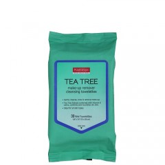 Purederm Tea Tree Make-Up Remover Cleansing Towelettes
