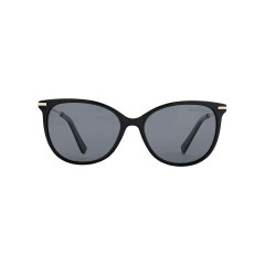 Dion Villard ladies sunglasses, gold \ black color, stainless steel material, Cat eye shape DVSGL1901BG