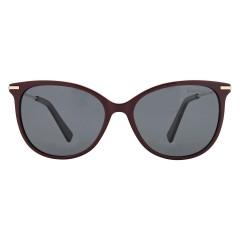 Dion Villard ladies sunglasses, gold \ Red color, stainless steel material, Cat eye shape DVSGL1902RG