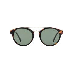 Dion Villard ladies sunglasses, Tortoise color, acetate material, Round shape DVSGL1905D