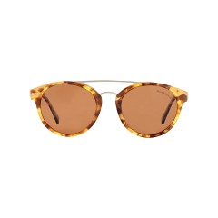 Dion Villard ladies sunglasses, Tortoise \ brown color, acetate material, Round shape DVSGL1906DBR