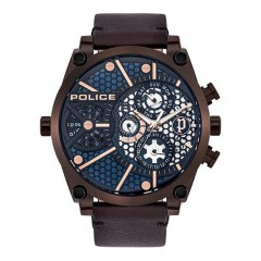 Police Leather Gents Watch P 15381JSBZ-03