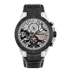 Police Saiho Gents Silver Quartz Watch P 15711JSTB-04