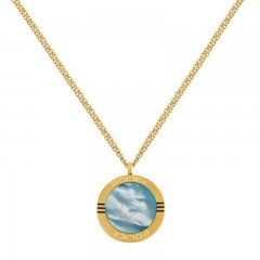 Police Womens Gold Color Necklace P PJ 26507PSG-02