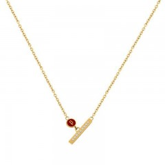 Police Womens Gold Color Necklace P PJ 26508PSG-02