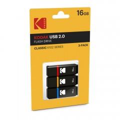Kodak 3Pc 16Gb Usb 2.0 Flash Drive K102