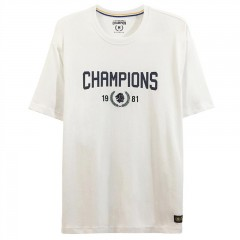Giordano Men's Champions Print Tee  Signature White  S