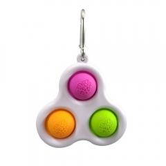 Push Pop It Fidget (3 Color Triangle Ring)