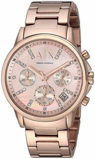 Armani Exchange women's Rose Gold Dial Chronograph AX4326