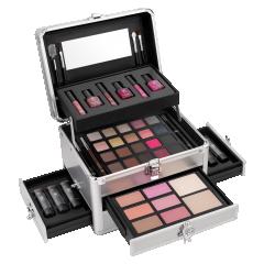 Makeup Box Silver Star New