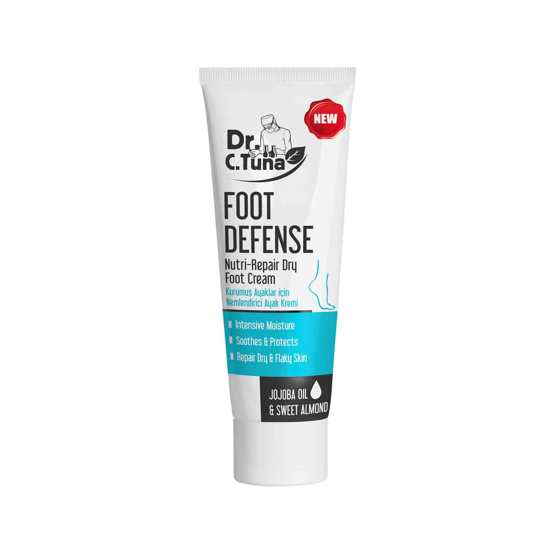 DR C TUNA FOOT DEFENSE NUTRI REPAIR DRY FOOT CREAM 100 ML