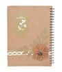 Brown Note book w/Spiral A4