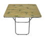 Brown Rectangular Folding table