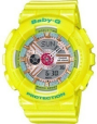 Casio BABY-G Analog-Digital, Yellow Sports Watch.