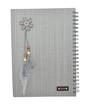Grey Note book w/Spiral A4