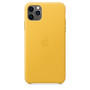 IPHONE 11 Pro Max Leather Case- Yellow