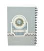Light Blue Note book w/Spiral A4